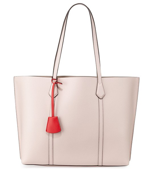 Tory Burch Perry Leather Tote Bag in pink