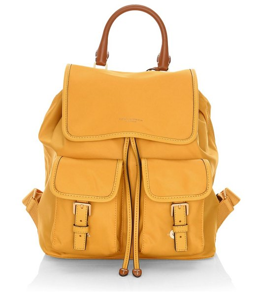Tory Burch perry nylon flap backpack in gold