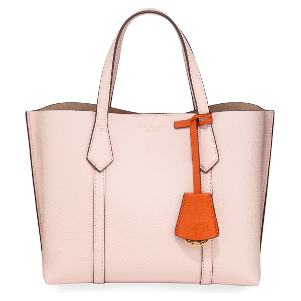 Tory Burch Perry Small Colorblock Tote Bag in light pink
