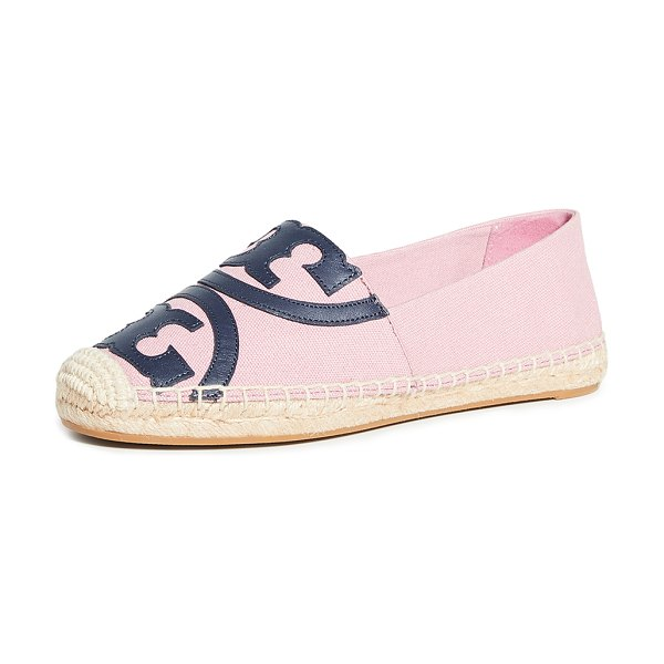 Tory Burch poppy espadrilles in blushing/perfect navy