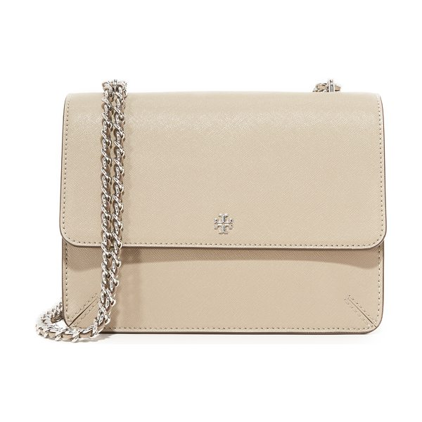 Tory Burch robinson convertible shoulder bag in french gray - A sophisticated Tory Burch shoulder bag crafted in...