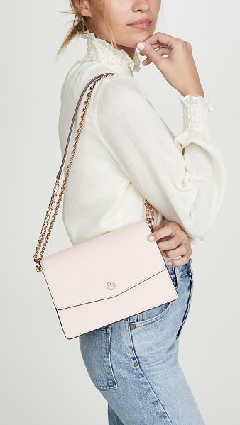 Tory Burch robinson convertible shoulder bag in shell pink