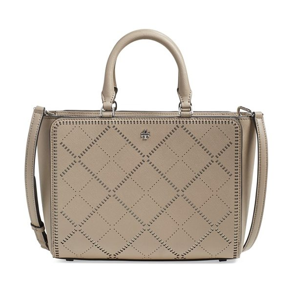 TORY BURCH Robinson crosshatch zip tote - Perforated crosshatch patterns play up the vintage...