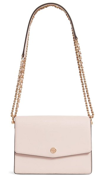 Tory Burch robinson leather convertible shoulder bag in pink