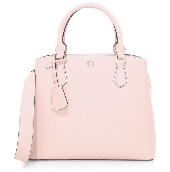 Tory Burch robinson leather satchel in shell pink