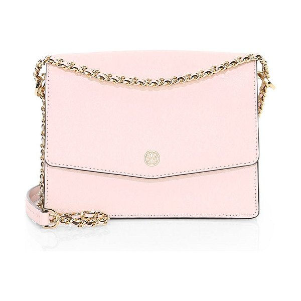 Tory Burch robinson leather shoulder bag in shell pink