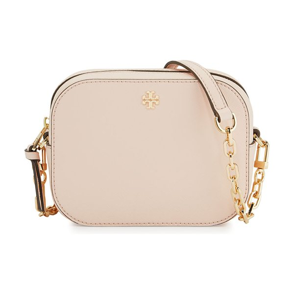 Tory Burch Robinson Round Crossbody Bag in pale apricot - Tory Burch saffiano leather round crossbody bag....