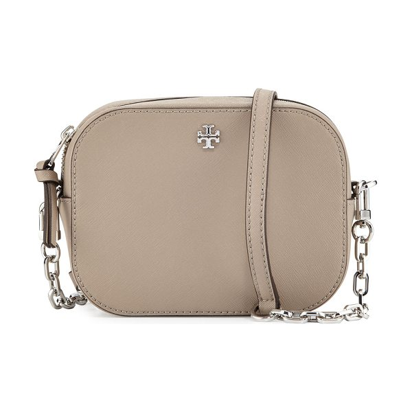 Tory Burch Robinson Round Crossbody Bag in french gray - Tory Burch saffiano leather round crossbody bag....