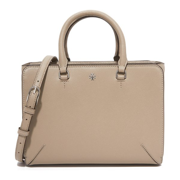 TORY BURCH robinson small zip tote - A boxy Tory Burch tote with magnetic pockets in front...