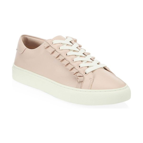 TORY BURCH ruffled leather sneakers - Sporty leather sneakers boast flowy ruffle trims....