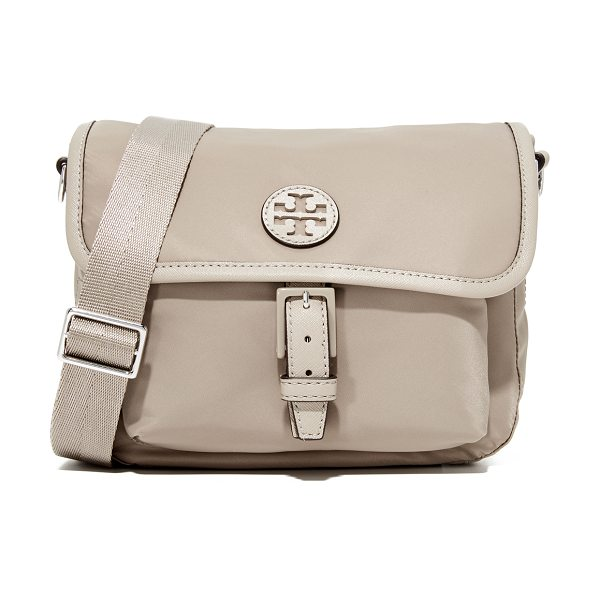 Tory Burch scout nylon cross body bag in french gray