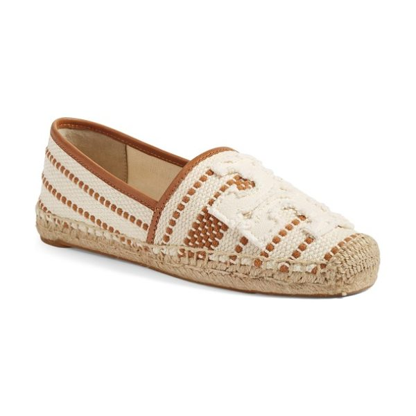 Tory Burch shaw espadrille in light natural/ royal tan - Earthy style and signature sophistication merge in a...