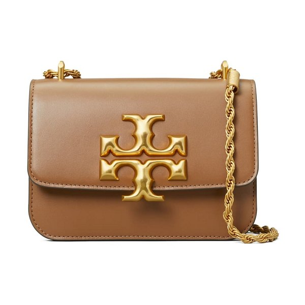 Tory Burch small eleanor convertible leather shoulder bag in brown