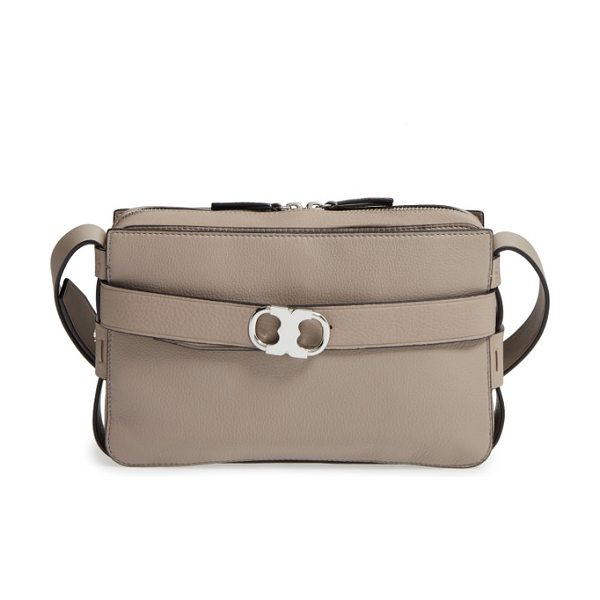 TORY BURCH small gemini belted leather camera bag - A lightly structured bag topped with an adjustable...