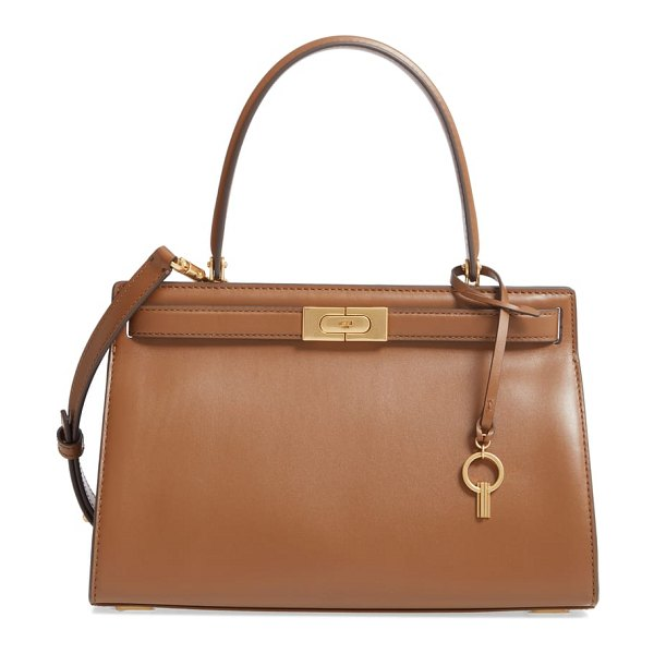 Tory Burch small lee radziwill leather bag in brown