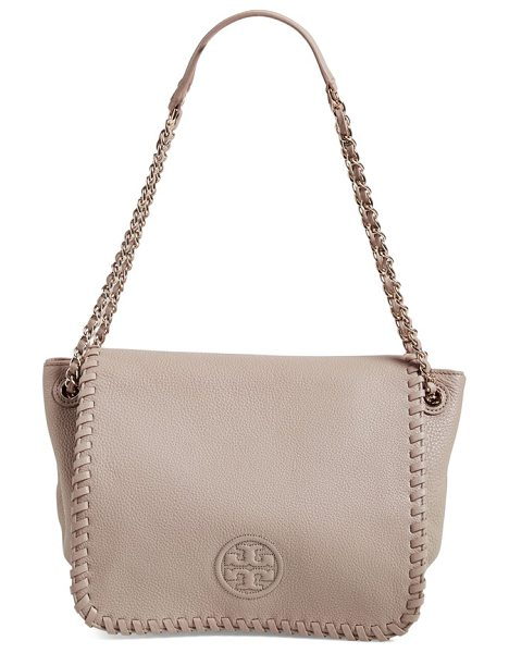 TORY BURCH Small marion leather flap shoulder bag - An upscale blend of bling and boho defines a woven...