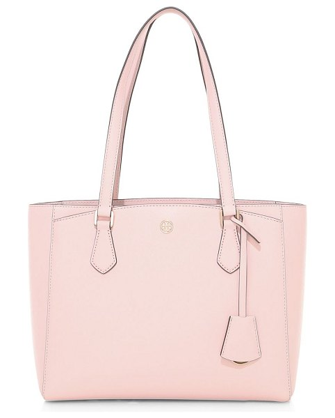 Tory Burch small robinson leather tote in shell pink