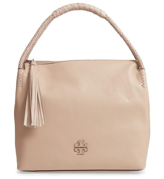 Tory Burch taylor leather hobo bag in soft clay - Understated vintage style is the name of the game with...