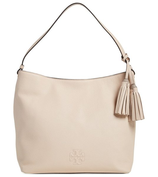 TORY BURCH Thea leather hobo - A slouchy hobo is cut from rich, lustrous pebbled...