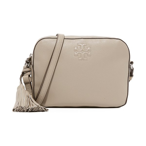Tory Burch Thea shoulder camera bag in french gray