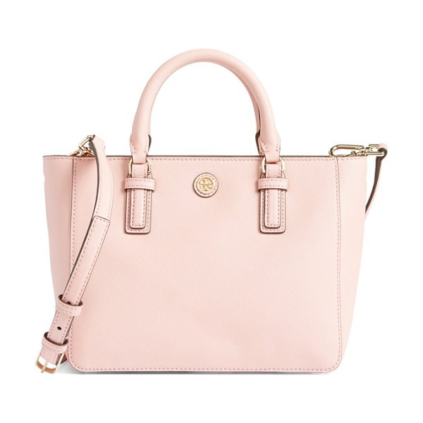 TORY BURCH Robinson mini square tote - This petite version of Tory Burch's signature Robinson...
