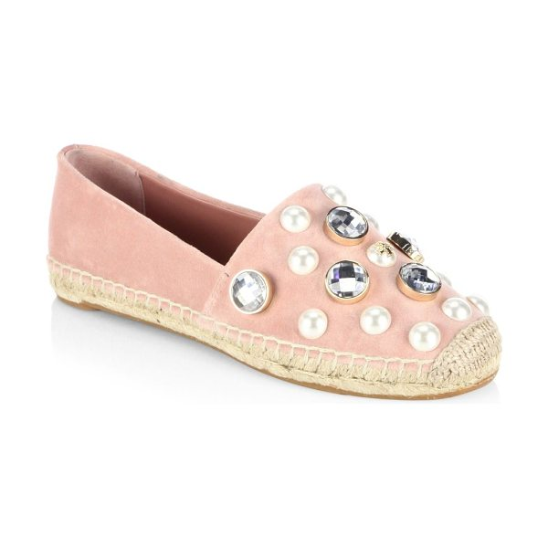 Tory Burch vail espadrille slip-ons in ballet - Pearl studded espadrille slip-ons for an edgy style....