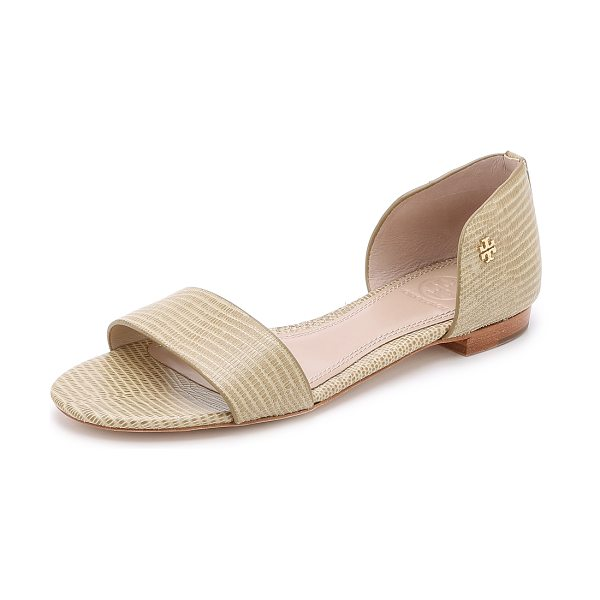 Tory Burch Viv flat sandals in trench tan