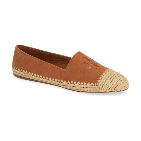 Tory Burch woven cap toe flat in brown - Intricate weaving at the cap toe and along the sole puts...