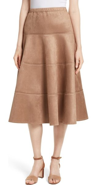 Tracy Reese metallic midi skirt in dark sand - Cut to a below-knee length, a tiered skirt brings glam...