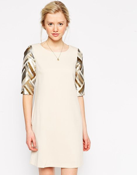 Traffic People Love to Love You Dress in cream - Dress by Traffic People, Mid-weight soft touch lined...