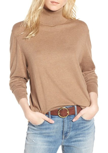 Treasure & Bond boyfriend turtleneck sweater in brown otter heather - Relaxed enough for him but made in mind for you, this...