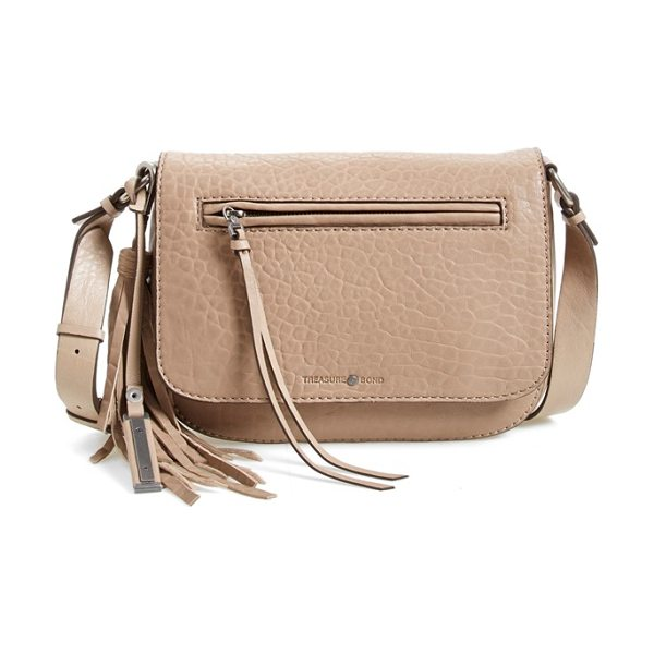 Treasure & Bond Welt pocket crossbody bag in tan portabella - A swishy tassel and polished hardware add a touch of...