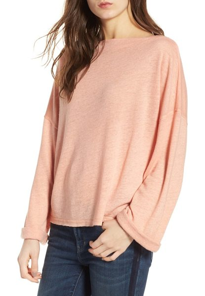 Treasure & Bond slouchy pullover in coral almond - Whether you're lounging at home or meeting the girls for...