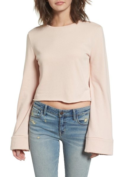 Treasure & Bond wide sleeve sweatshirt in pink hero - Extra-long and extra-flared sleeves add a funky boho...
