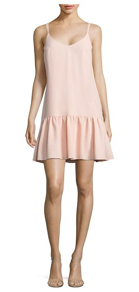 Trina Turk crepe drop-waist dress in peachcream