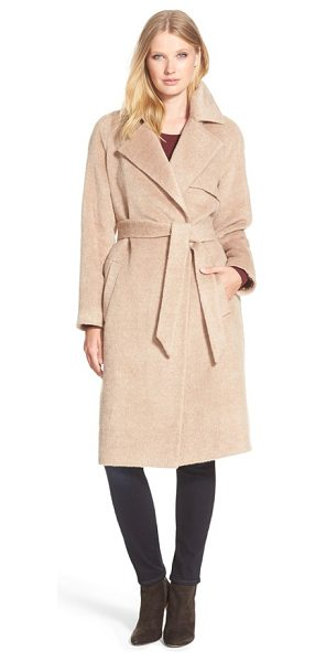Trina Turk delaney long wrap trench coat in fawn - Trench-inspired design and an elegantly long length...