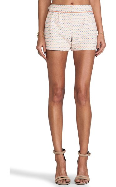 "Trina Turk Maureen shorts in peach - Cotton blend. Shorts measure approx 11"""" in length...."