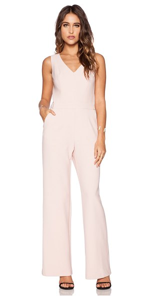 Trina Turk Monroe jumpsuit in blush - Shell: 63% poly 27% viscose 3% elastaneLining: 100%...