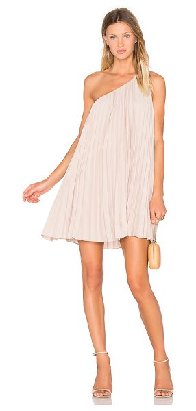 Trina Turk Skyla Dress in blush - 100% poly. Fully lined. Fully lined. Pleated fabric....