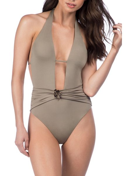 TRINA TURK studio one-piece swimsuit - Figure-highlighting hardware gleams at the center of...