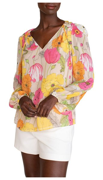 Trina Turk watson floral top in multi beach