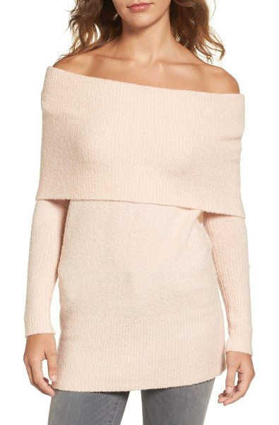 Trouve off the shoulder tunic in pink hero - The changing seasons is no reason why your shoulders...