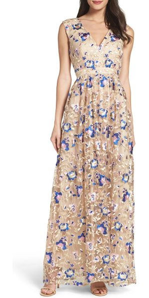 True Decadence lace maxi dress in stone multi flower - Both classic and on trend this season, lace defines this...