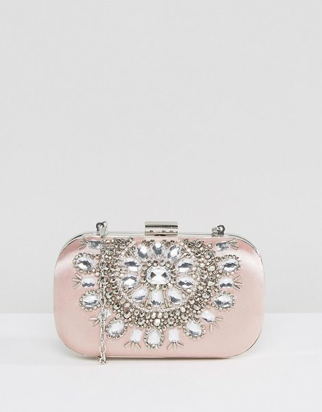 TRUE DECADENCE Embellished Oval Hard Clutch Bag - Clutch bag by True Decadence, Jewel embellished outer,...