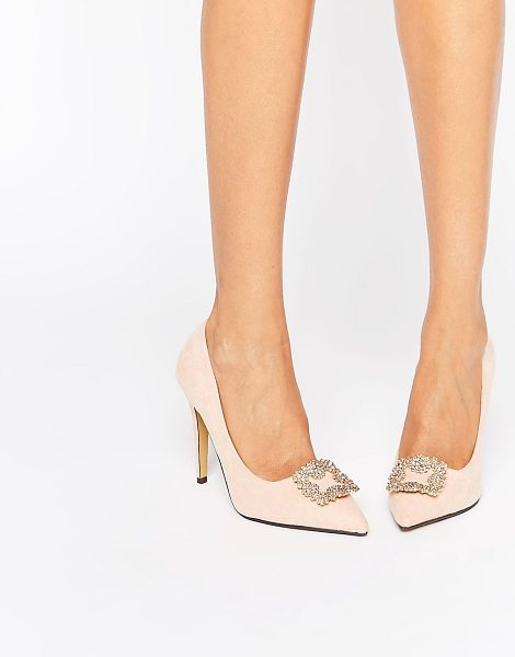 TRUE DECADENCE Embellished Pumps - Shoes by True Decadence, Textile upper, Slip-on style,...