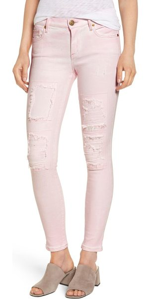 True Religion halle super skinny jeans in urban ash rose - Figure-flaunting skinny jeans create a long and lean...