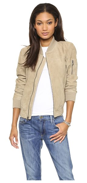 TRUE RELIGION Suede flight jacket - A classic bomber jacket rendered in suede. Zip front...