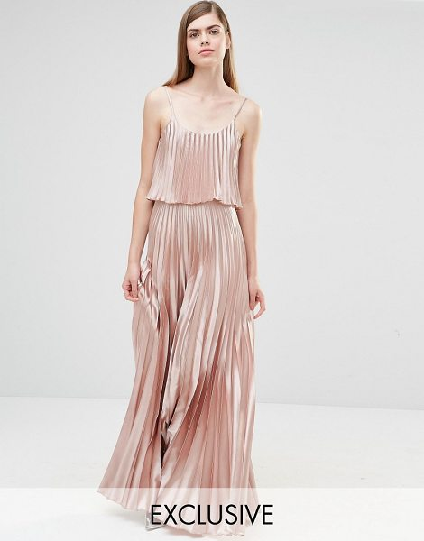 "True Violet Pleated 2 in 1 Maxi Dress in pink - """"Maxi dress by True Violet, Woven fabric, Scoop..."