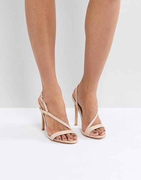 Truffle Collection asymmetric sandal in nudepatent - Sandals by Truffle, Ankle-strap fastening, Open toe,...