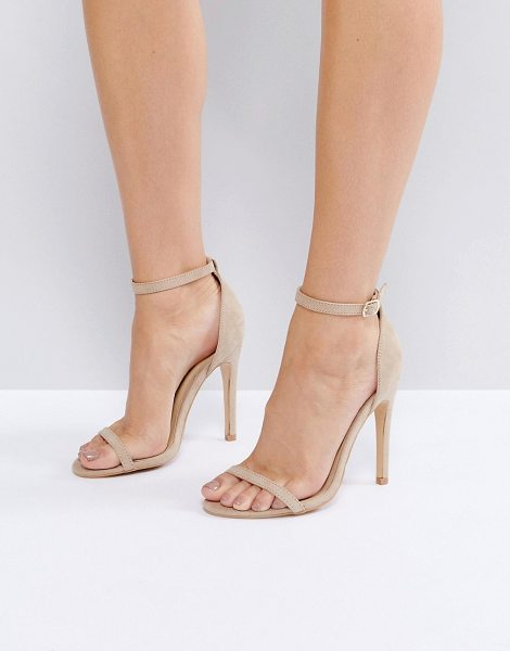 Truffle Collection Barely There Heel Sandals in nudemicro - Shoes by Truffle, Faux-suede upper, Ankle-strap...